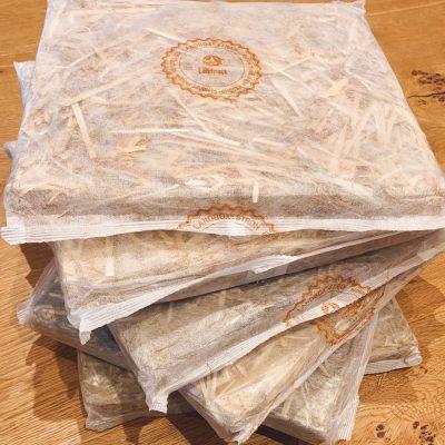 Oekologische Stroh Paneele Verpackung